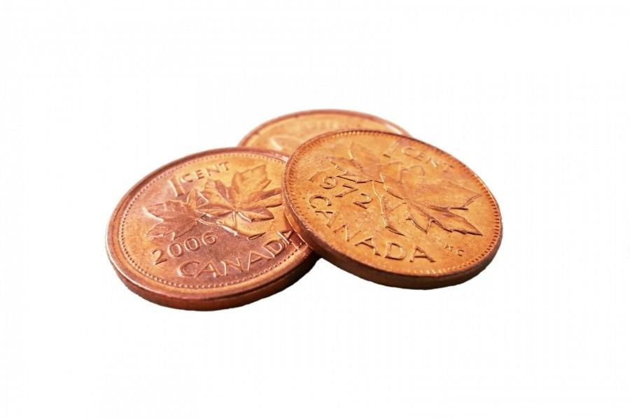 three canadian pennies