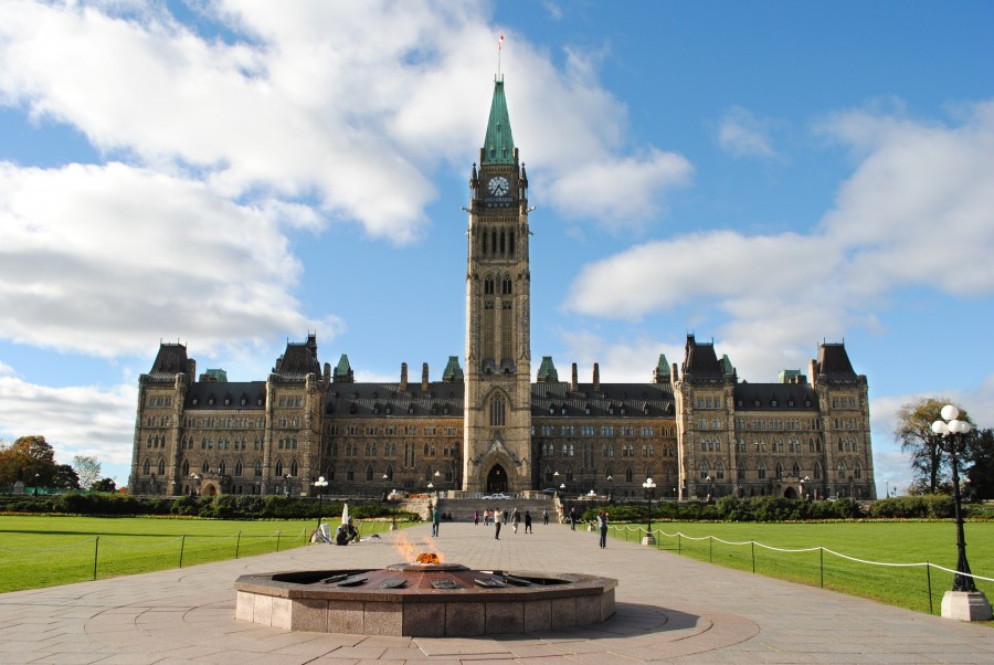Parliament building in Ottawa, Canada